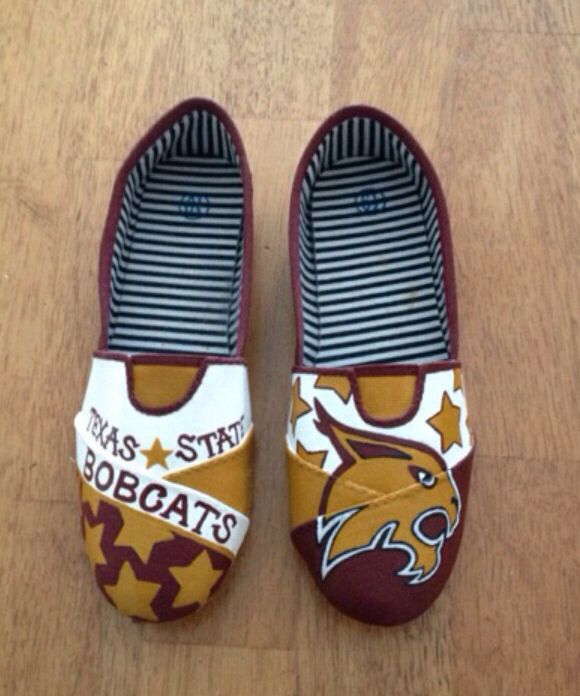 Texas State Bobcat hand painted shoes! Etsy.com/shoesbykat