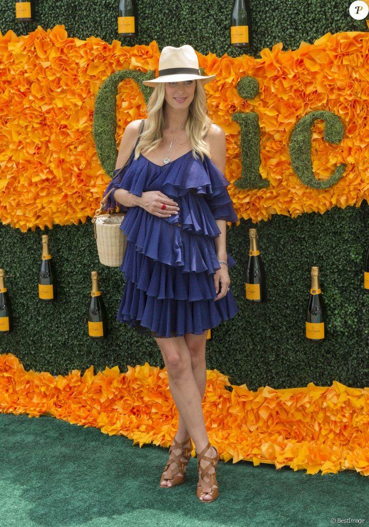 Nicky Hilton (enceinte) lors de la 9ème soirée annuelle «Veuve Clicquot Polo Classic» à Jersey City le 4 juin 2016.