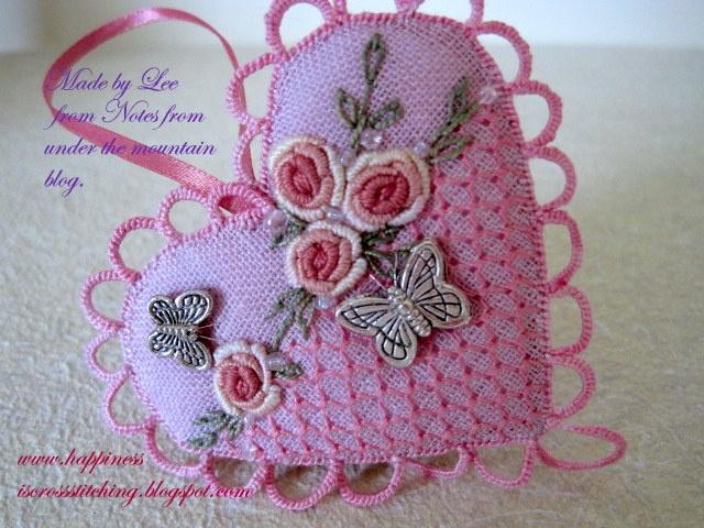 Beautiful cross stitch heart