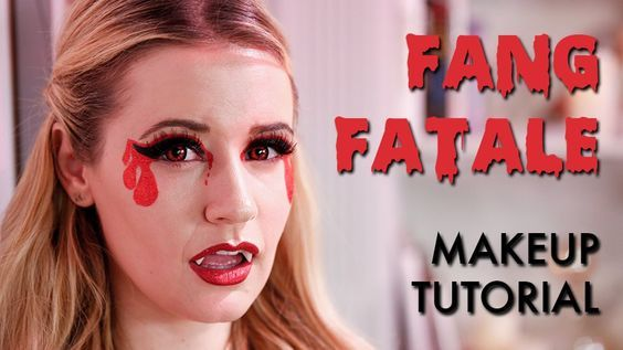 """Bloody-Good Makeup: Transform Yourself Into a Fang Fatale: When you google """"sexy Halloween makeup,"""" a few looks pop up under images: leopard-print makeup, zombified fairies, Webby Woman, and this vampire look, which has flooded Pinterest."""