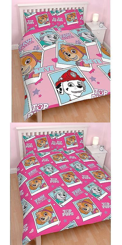 Duvet Covers and Sets 134278: Paw Patrol Toppups Cartoon Print Reversible Children Double Rotary Duvet Bed Set -> BUY IT NOW ONLY: $21.99 on eBay!