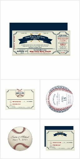 Baseball Wedding Vintage Ball Park Ticket Couples who share a love of baseball and want to express that on their wedding day will find my vintage inspired ball park baseball ticket and field pass wedding invitations a unique and fun way to invite guests to the wedding. Whether at an actual ball park or any other venue, this vintage ticket design wedding invitation is sure to be a home run!