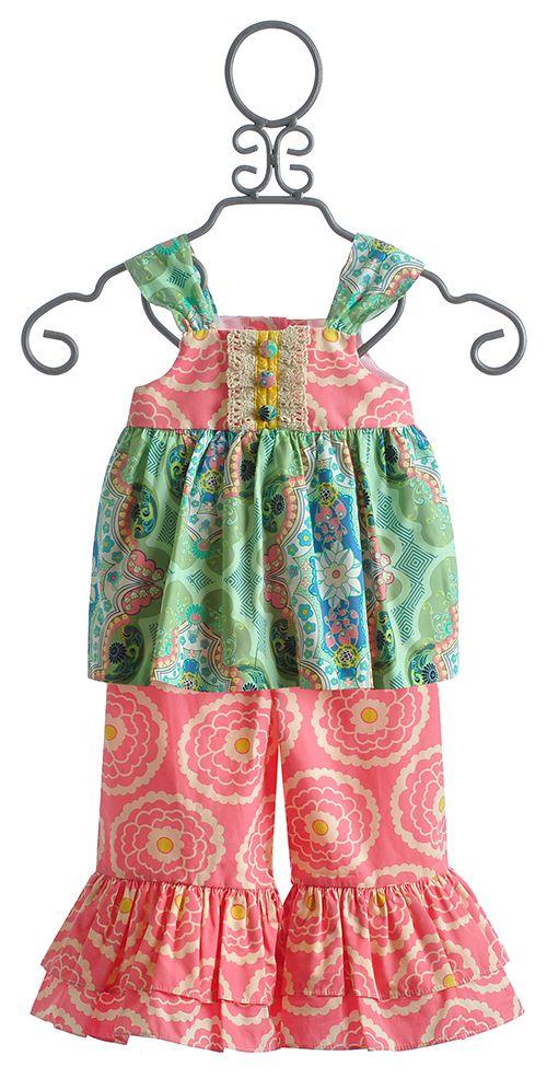 Peaches 'N Cream Little Girls Boutique Summer Outfit $78.00