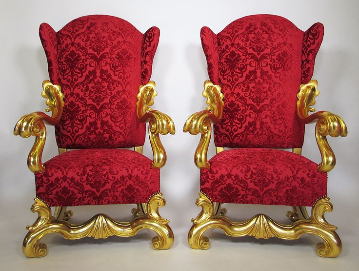A Very Fine Pair of Italian 19th Century Baroque Style Gildwood Carved  Winged Throne Armchairs,. Modern ArmchairAntique ChairsDoll ... - 52 Best ANTIQUES Images On Pinterest Antique Furniture, French