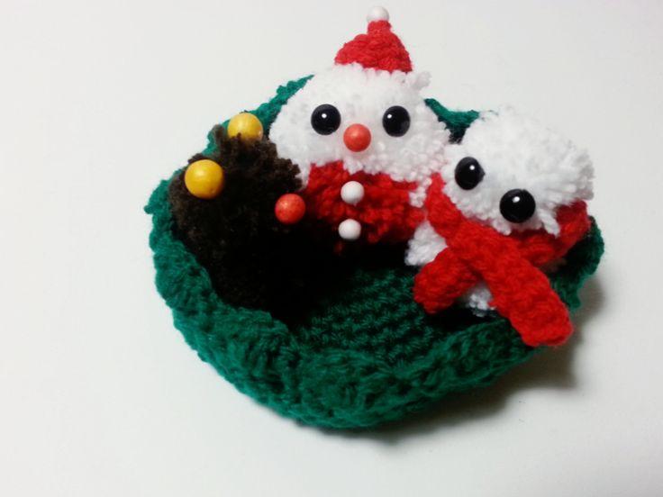 Crochet Christmas Deco - Deer, Santa & Snowman