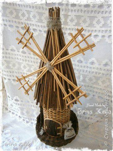 Интерьер Плетение Ведёрки мельницы и шкатулка  Трубочки бумажные фото 14