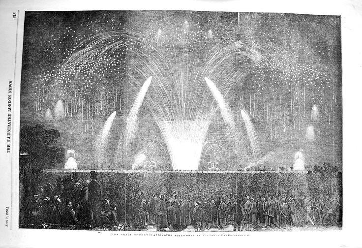 [1856 Peace Commemoration Fireworks Victoria Park]
