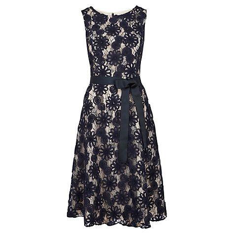 Buy Viyella Cornelli Fit And Flare Dress, Navy Online at johnlewis.com