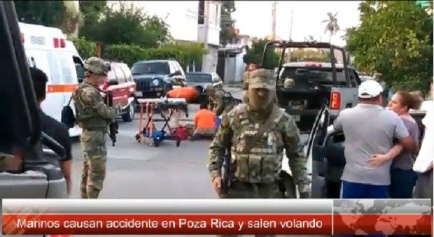 Marinos provocan nuevamente accidente en Poza Rica - http://www.esnoticiaveracruz.com/marinos-provocan-nuevamente-accidente-en-poza-rica/