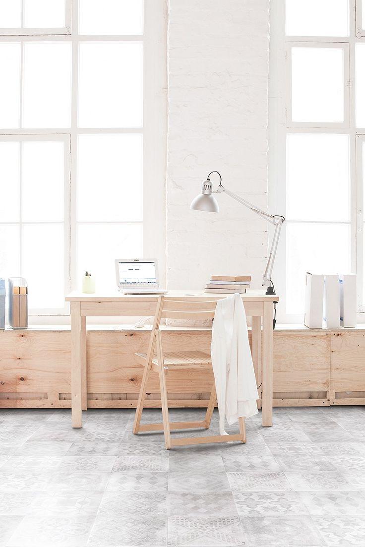 Norfloor | Betonepoque White-Grey Olivia 20x20