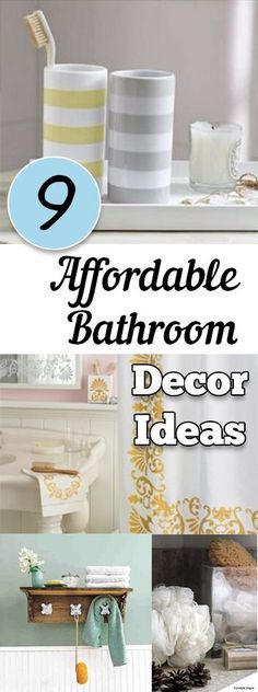 9 Affordable Bathroom Decor Ideas. DIY, DIY home projects, home décor, home, dream home, DIY kitchen, DIY kitchen projects, weekend DIY projects.