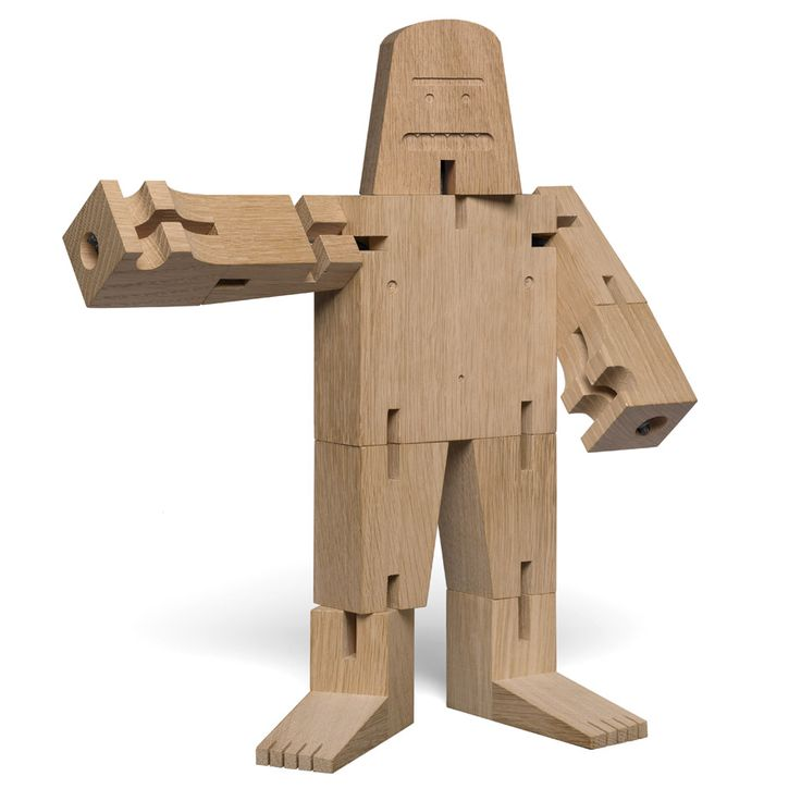 This wooden Bigfoot toy by David Weeks features in Dezeen's Christmas gift guide for architects and designers