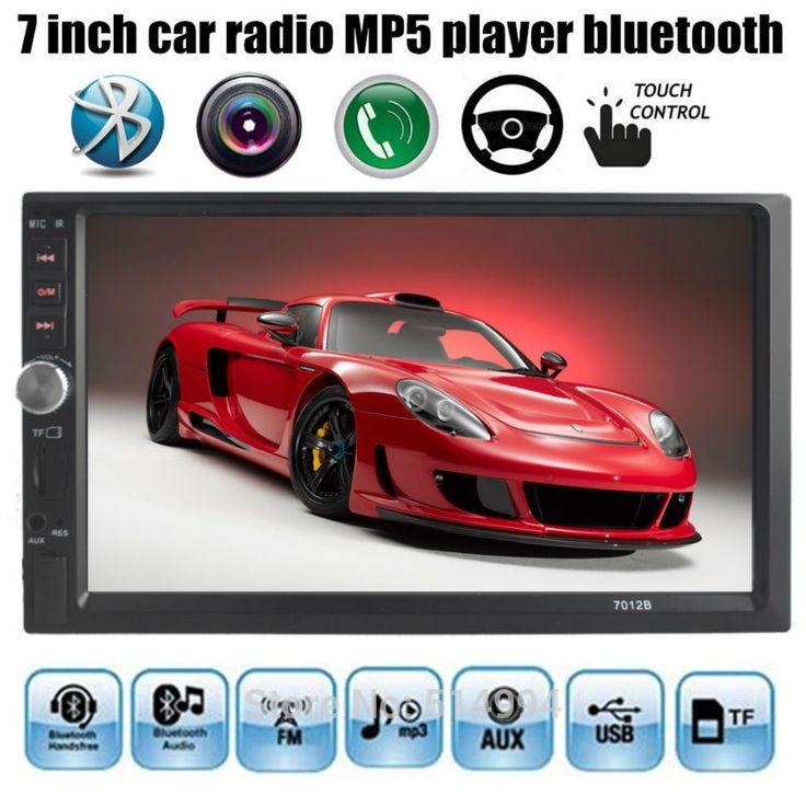wholesale 7 Inch LCD HD Double DIN Car In-Dash Touch Screen  Auto radio Bluetooth/ FM/ MP4/MP5 player Support rear view camera #jewelry, #women, #men, #hats, #watches, #belts, #fashion