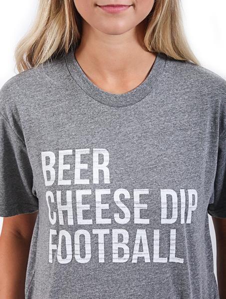 Beer, Cheese Dip, Football Tee