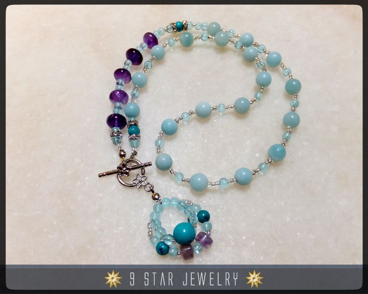 Baha'i Prayer Beads Necklace - The Beautiful Soul - 5 x 19 (Alláh-u-Abhá) - Unique - BPB0024 by 9StarJewelry on Etsy #bahai #9starjewelry #etsy #prayerbeads