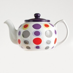 Queen of Dots Teapot  Will the Mad Hatter be a guest at your next tea party? Looking for some extra fun in your day? Our Queen of Dots ceramic teapot will make any tea party a magical one. Infuser not included.  available from Steeped Tea  www.mysteepedtea.com/parTEAmama