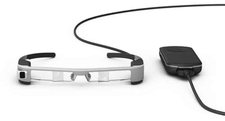 Test nouvelles lunettes réalité augmentée connectée Epson BT 300