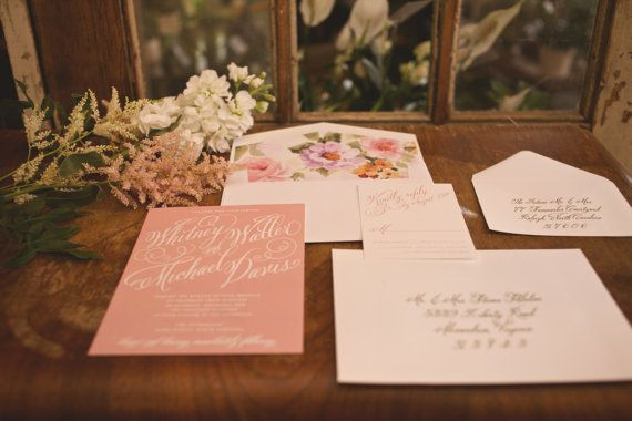 Garden Wedding Invitation Blush Wedding Invitation by SuitePaper, $10.00.  Check out the artist's link.