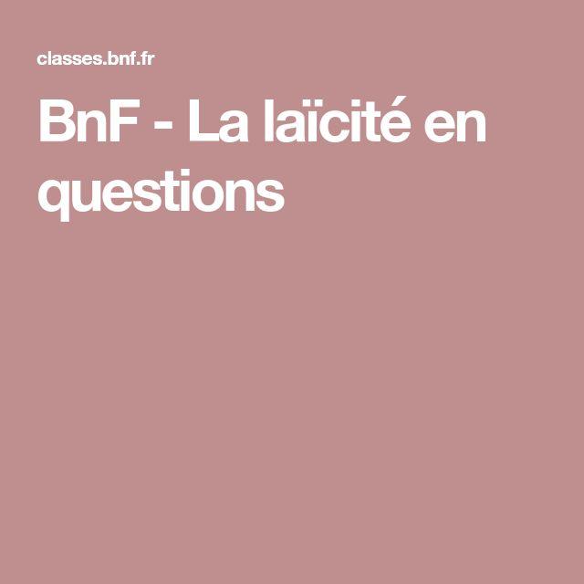 BnF - La laïcité en questions