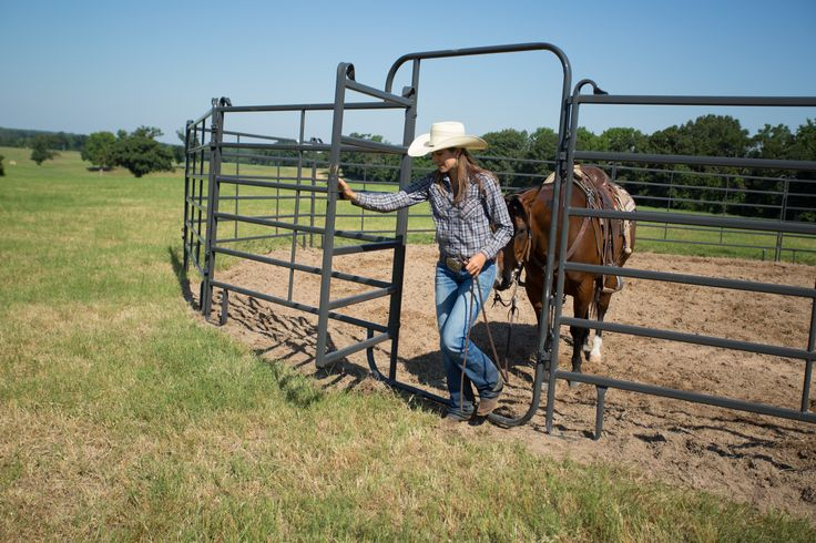 "This panel includes a 4' gate with slide latch to provide you easy ""walk thru"" access into pens or corrals built from Priefert's 6' tall Premier Panels."