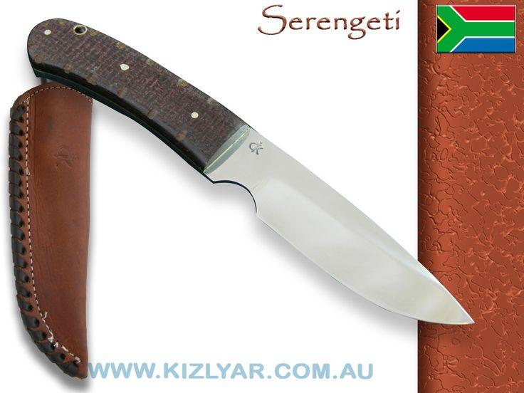 Kappetijn Serengeti D2 tool steel (Hessian Micarta)