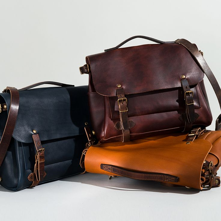 Bleu de Chauffe, Eclair postman bag. Men's bag. Leather messenger bag