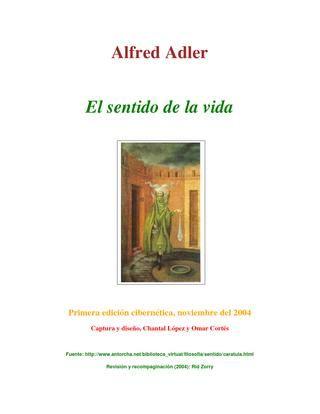 Adler alfred el sentido de la vida