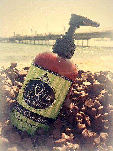 Dark Chocolate Shea Butter Body Lotion ~ Moisturizer for dry skin ~ paraben free ~ natural handmade fresh ~  massage lotion