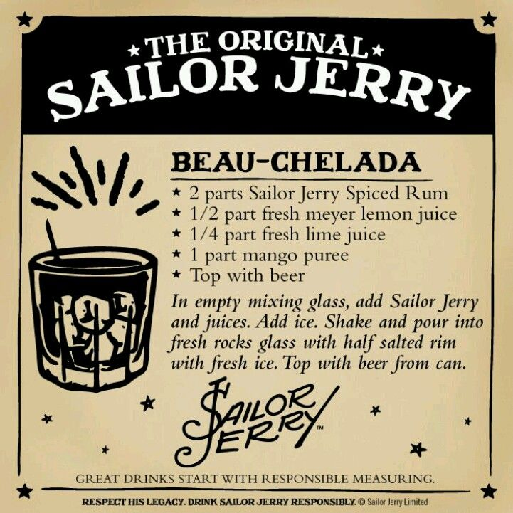 Can't go wrong with sailor Jerry (drinks with rum sailor jerry)