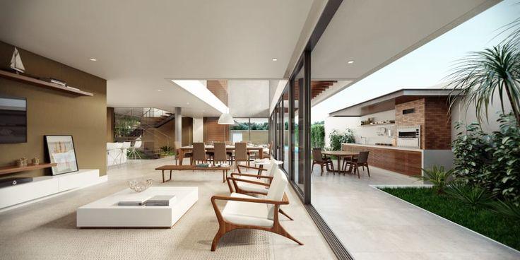 Navegue por fotos de Salas de estar minimalistas: Casa C – Cena 05. Veja fotos com as melhores ideias e inspirações para criar uma casa perfeita.