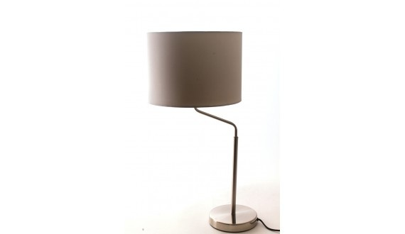 Surge Table Lamp -Fabric & Metal-Silver H620*300mm