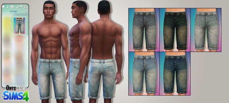 TS4 - Male Bottoms No2 - Onyx Sims