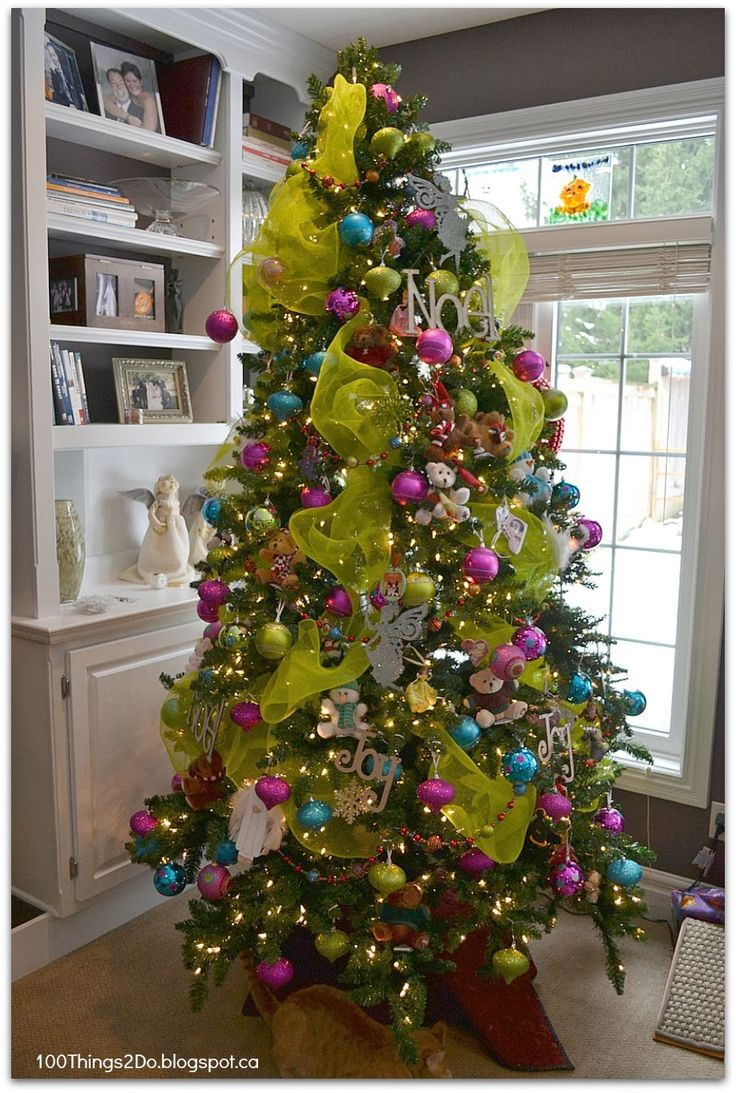 Brown And Lime Green Christmas Tree Decorations