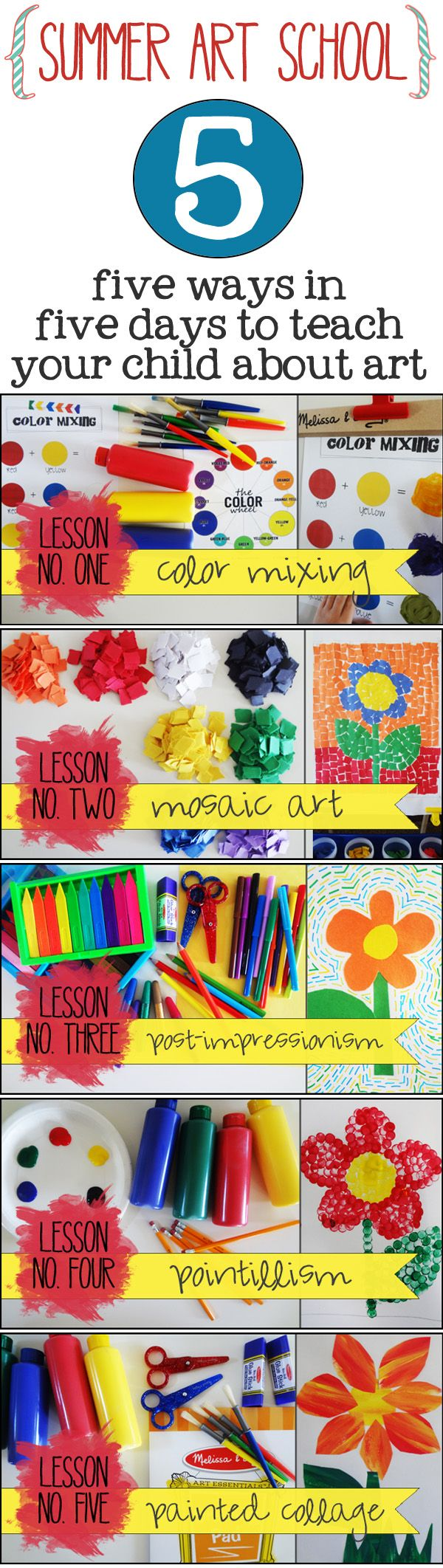 5 Art lessons that are perfect for summer learning. {Melissa and Doug}