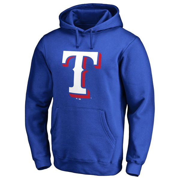 Texas Rangers Team Color Primary Logo Pullover Hoodie - Royal - $59.99