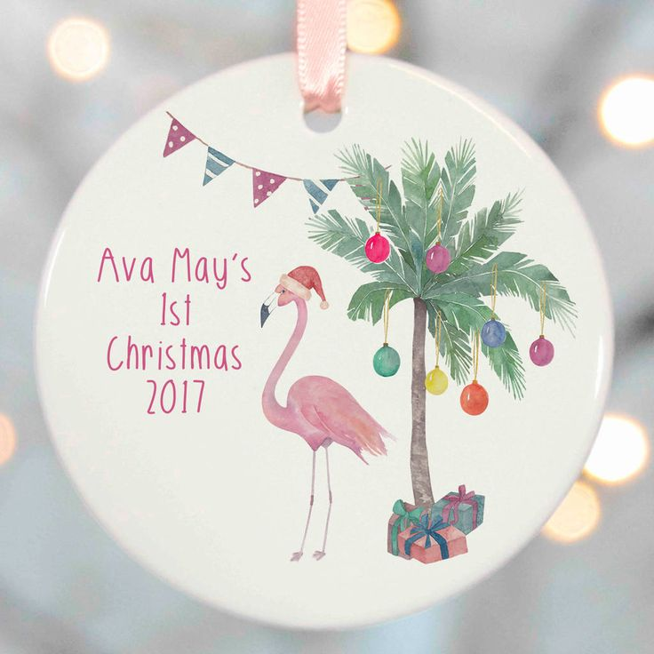 Flamingo Christmas Tree Decorations Uk : Flamingo christmas tree decorations by christening gifts
