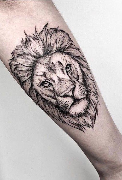 65 Tatuagens de leão Femininas e Masculinas – TopTatuagens