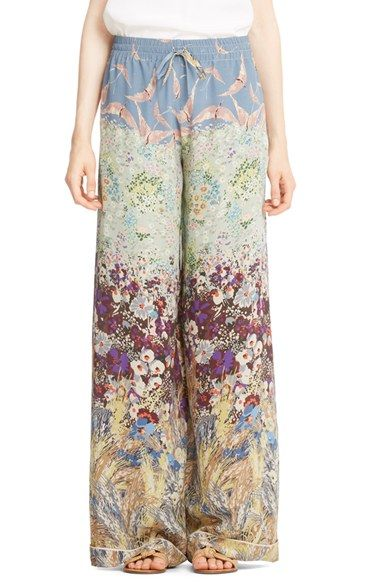 Valentino Landscape Print Silk Palazzo Pants available at #Nordstrom