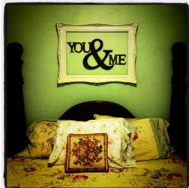 Cute idea above the bed