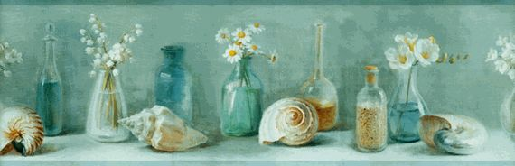 seashells, fine bottles
