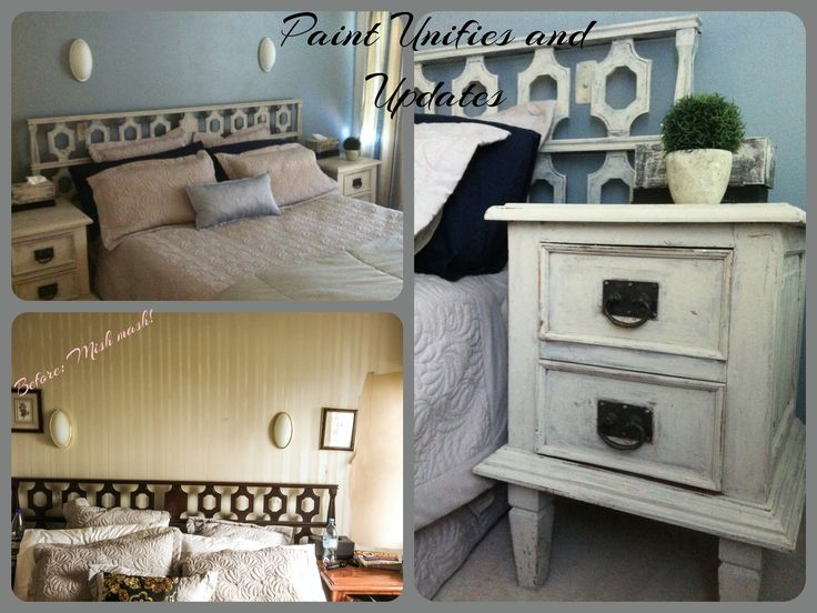 Room makeover with acrylic paint and home made chalked paint. See more at http://chinagrove.co.nz