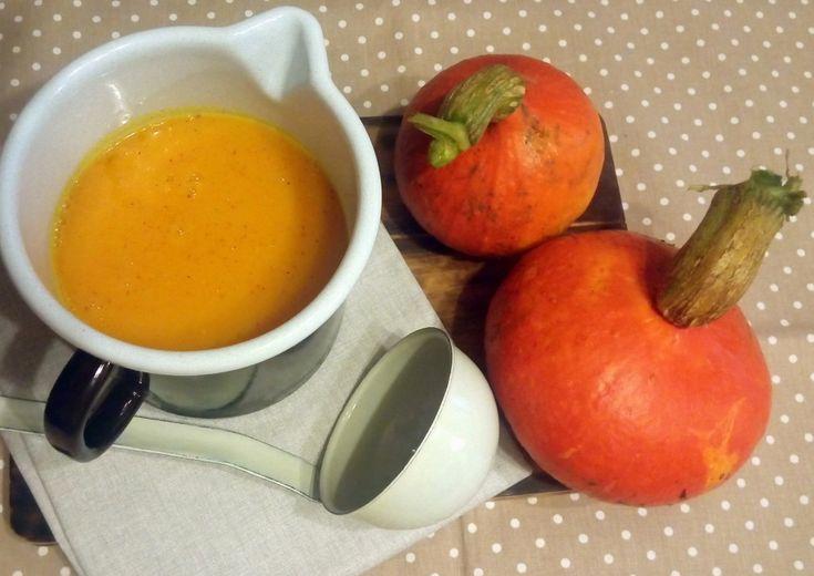dýňová polévka se zázvorem a pomerančovou št´ávou