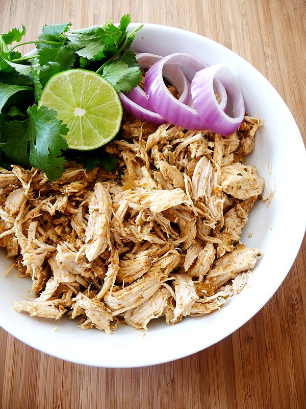 Recipe for Shredded Mexican Chicken for Crock-Pot or Pressure Cooker. Great in…