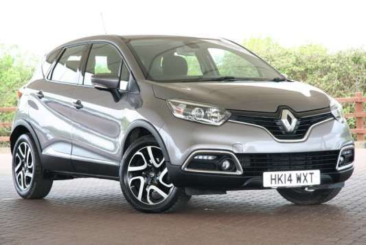 Used 2014 (14 reg) Grey Renault Captur 1.5 dCi 90 Dynamique MediaNav Energy 5dr for sale on RAC Cars