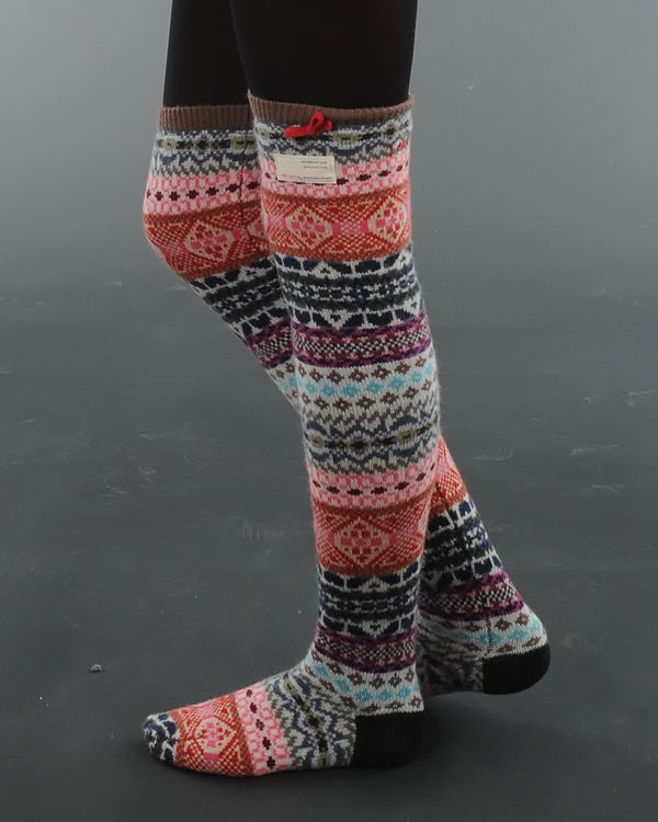 Odd Molly - Jacquard multi long sock