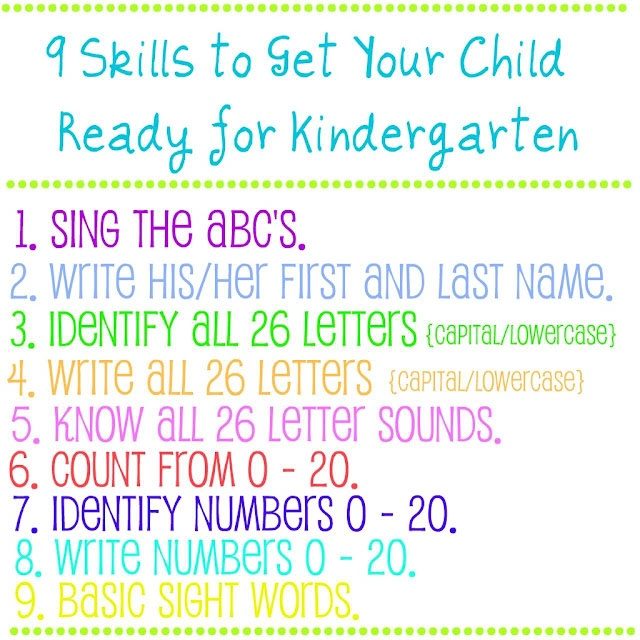 9 Skills to Get Your Child Ready for Kindergarten