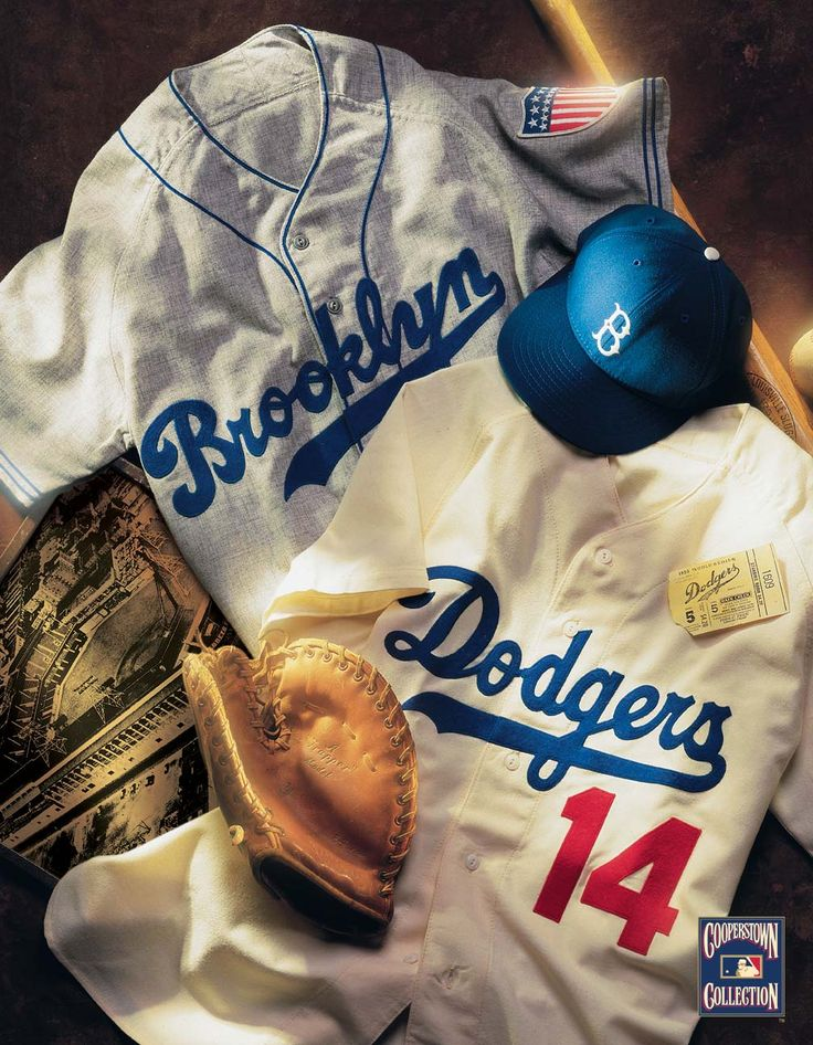From Brooklyn,NY to Los Angeles,CA Dodgers vintage collage