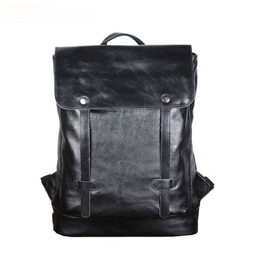 BAIJIAWEI Fashion Design Men Oil Wax Leather Backpack Men's School Backpack & Travel Bags Western College Style Man Backpacks