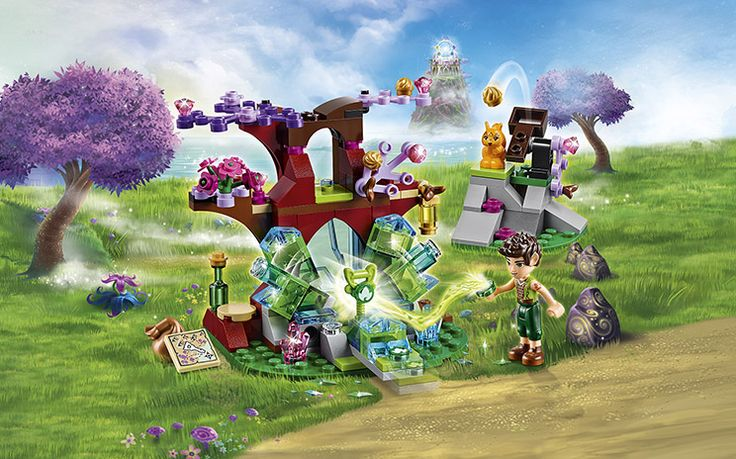 [✓]  LEGO Elves -- Farran and the Crystal Hollow. Includes 1 minidoll figure: Farran Leafshade, the Earth Elf and his the squirrel, Miss Spry