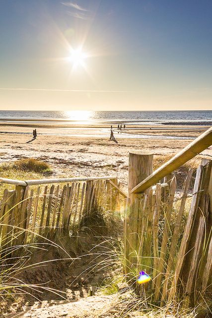 Sunshine at Troon beach, Scotland